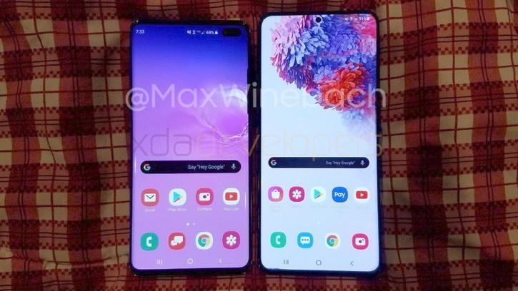 Какой большой! Samsung Galaxy S20+ на фото рядом с Galaxy S10+