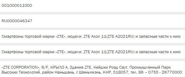 Новый доступный флагман: ZTE Axon 11 скоро в России