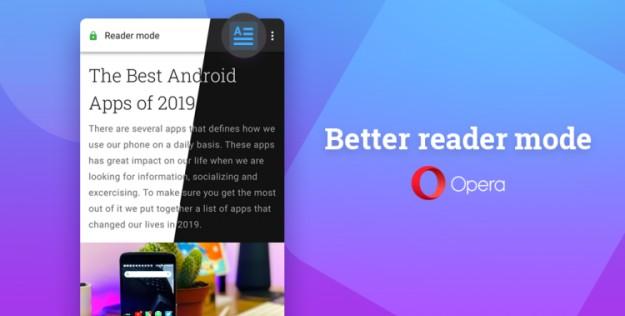 В браузере Opera для Android появился улучшенный режим чтения