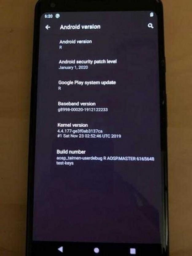 Новейший Android 11 засветился на Pixel 2 XL