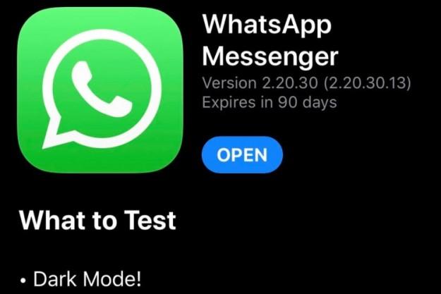 В бета-версии WhatsApp для iOS появился тёмный режим