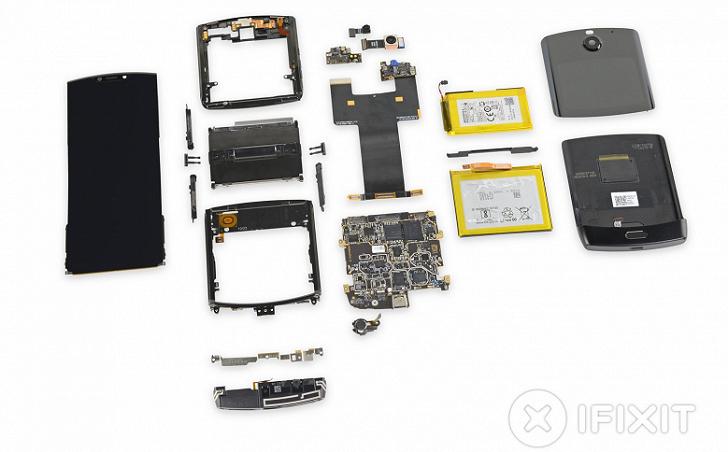 Motorola RAZR 2019 провалил тест на ремонтопригодность в iFixit