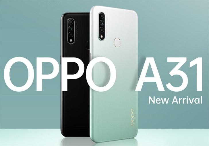 OPPO представила умный телефон среднего уровня. Новинка называется OPPO A31.