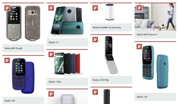 Телефоны Nokia получили шесть наград  iF DESIGN Awards 2020