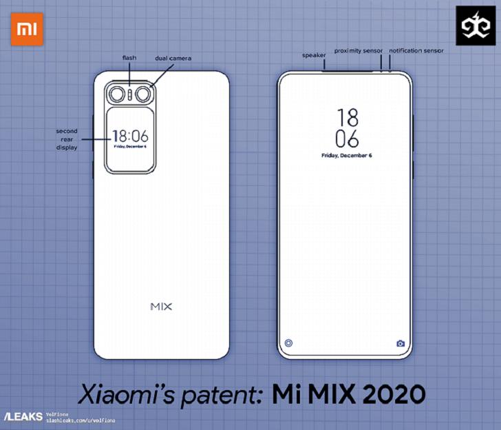 Xiaomi Mi MIX 4 может получить дополнительный экран сзади