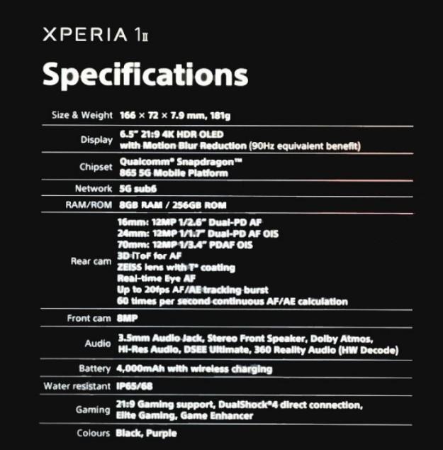 Фото и спецификации смартфонов Sony опубликованы за день до анонса