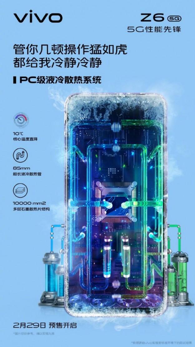 Система охлаждения игрового Vivo Z6 основана на ПК-технологиях