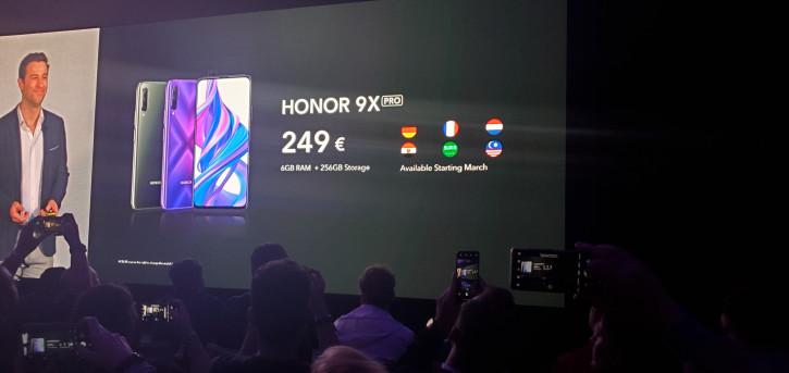 Цена Honor 9X Pro с новым чипсетом в Европе