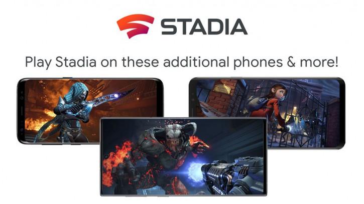 Сразу 19 моделей получают доступ к игровому сервису Google Stadia