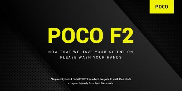 В Индии неожиданно подтвердили долгожданный Poco F2 и посоветовали мыть руки