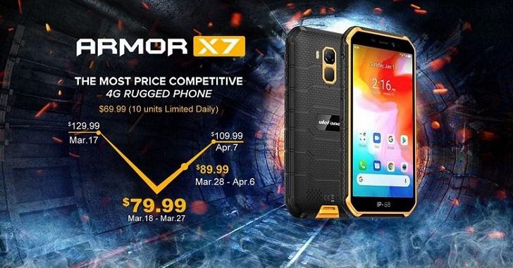 Ulefone Armor X7 – первый защищённый смартфон с ОС Android 10 из коробки