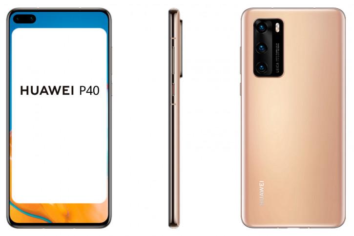 """Huawei P40 и P40 Pro в трех цветах на """"официальных"""" рендерах"""
