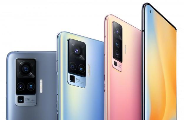 Vivo показала X50 и X50 Pro в трех цветах на качественном пресс-рендер