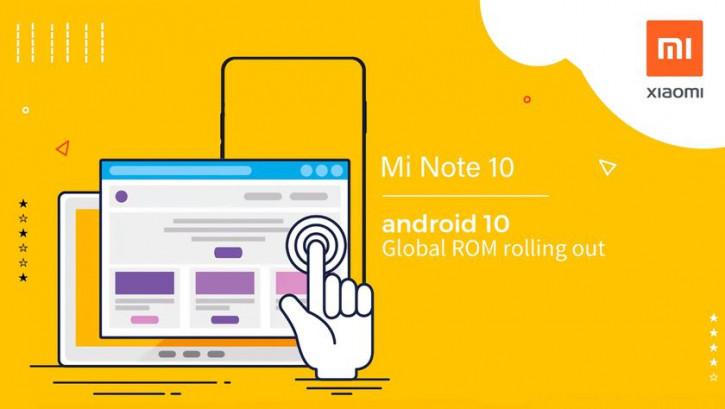 Xiaomi Mi Note 10 получил обновление до Android 10