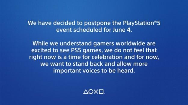 Sony отменила показ игр для PlayStation 5, запланированный на 4 июня