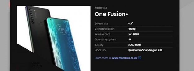 Смартфоны Motorola серии One Fusion получат процессоры Snapdragon 700-й серии