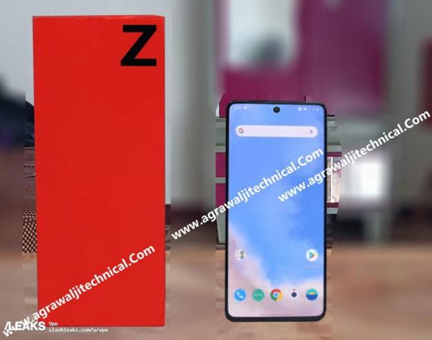 Первое фото предполагаемого смартфона OnePlus Z и его упаковки