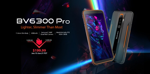Тонкий защищенный смартфон - Blackview BV6300 Pro по специальной цене $199,99
