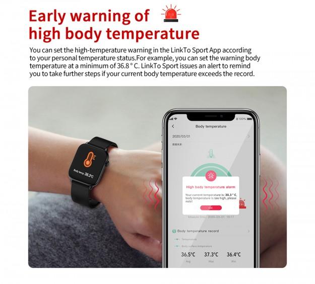 .9 за персонального консультанта по охране от COVID 19: TICWRIS GTS  - смарт часы с мониторингом температуры и кислорода в крови