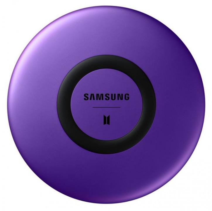 Цена и пресс-фото беспроводной зарядки Samsung Galaxy S20+ BTS Edition