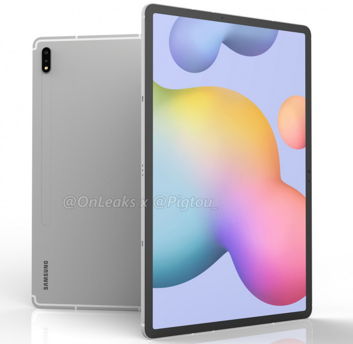 Samsung Galaxy Tab S7+: конкурент для iPad Pro на 3D-рендерах