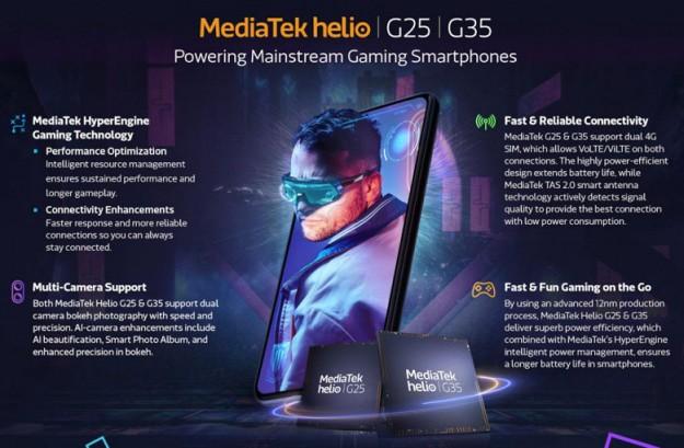 Представлены однокристальные системы MediaTek Helio G35 и Helio G25