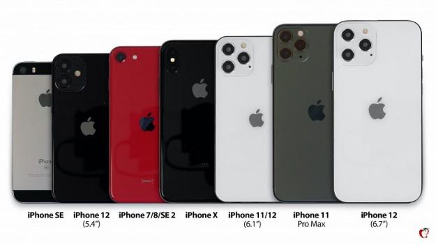 Долгожданный iPhone 12 сравнили с iPhone SE, iPhone SE 2020, iPhone X и iPhone 11