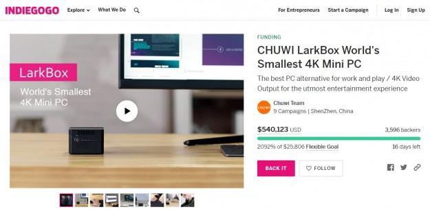 Chuwi LarkBox собрал более полминиона долларов от более чем 3500 человек