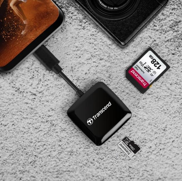 Transcend представляет компактный кард-ридер RDC3, оснащенный разъемом USB Type-C