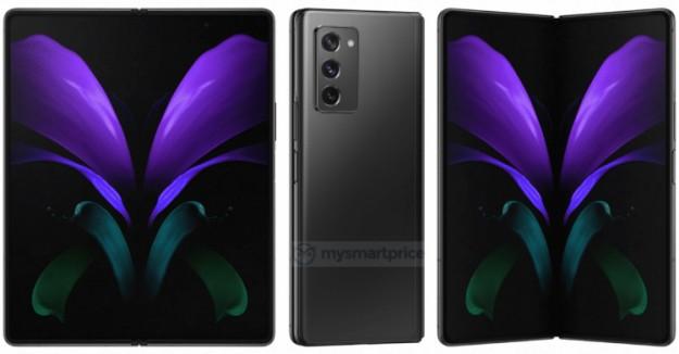 Гибкий смартфон Samsung Galaxy Z Fold 2 5G предстал во всей красе на высококачественных изображениях