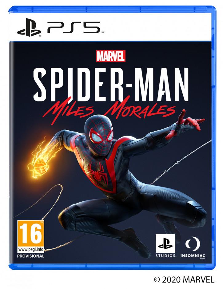 Бокс-арт игр Sony PlayStation 5 на примере Человек-Паук: Майлз Моралес