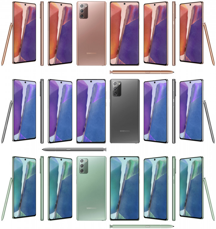 ВСЕ Samsung Galaxy Note 20, включая ранее неизвестные, на пресс-фото