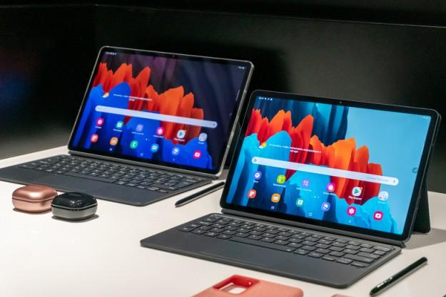 Galaxy Tab S7 и S7+ — флагманские Android-планшеты Samsung со 120-Гц экранами и Snapdragon 865+. Анонс новинки