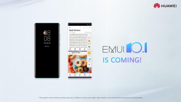 EMUI 10.1: Huawei объявляет обновление пользовательского интерфейса