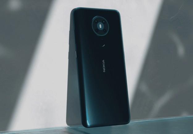 Врезанная камера спереди, сканер отпечатков сзади. Бюджетный Nokia 3.4 позирует на рендере