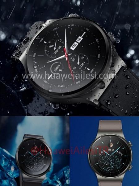 Умные часы Huawei Watch GT2 Pro на официальных изображениях