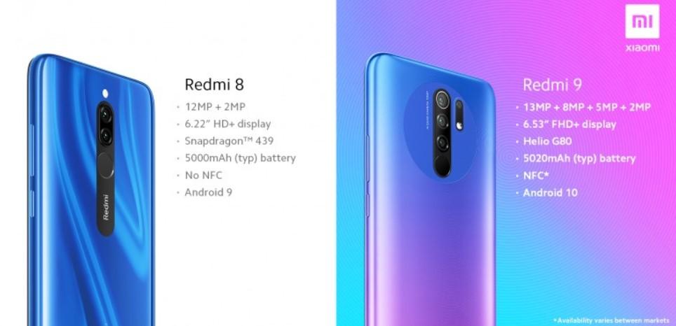 Основные отличия Xiaomi Redmi 9 от Redmi 8