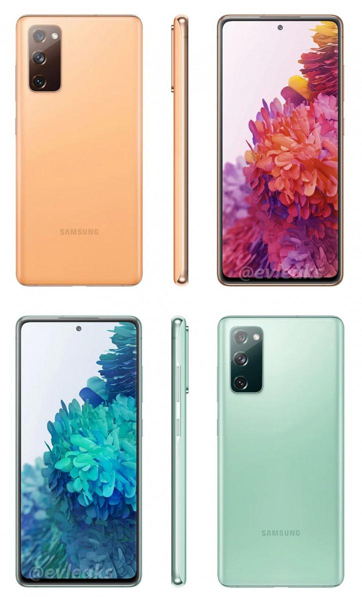 Samsung Galaxy S20 Fan Edition в двух цветах на 3D-рендере (видео)