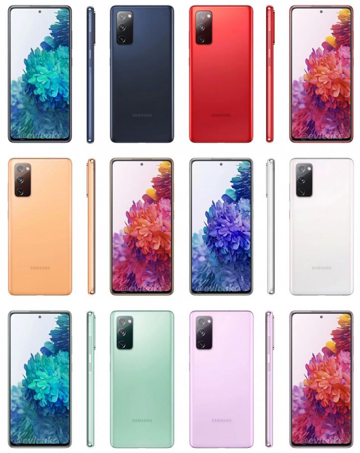Samsung Galaxy S20 FE в ШЕСТИ расцветках на пресс-фото
