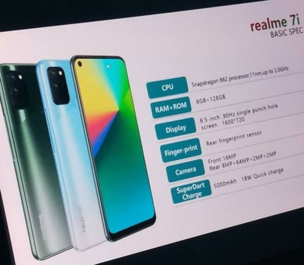 Заблудился в пути: третий смартфон серии Realme 7 покажут совсем скоро