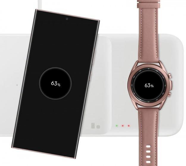 Станция беспроводной зарядки Samsung Wireless Charging Trio способна обеспечить мощность до 9 Вт
