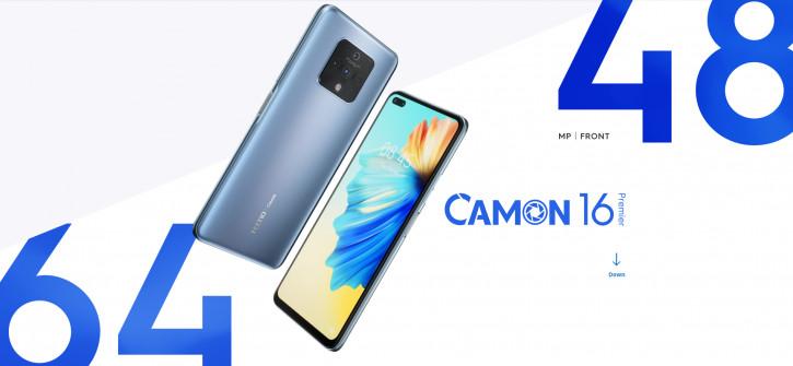 Анонс Tecno Camon 16 Premier: 64 Мп + 48 Мп + два ширика за $275