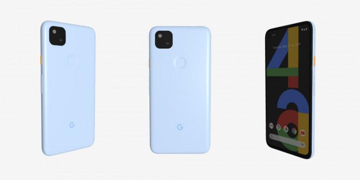 Отменённый голубой Google Pixel 4a замечен на сайте Google