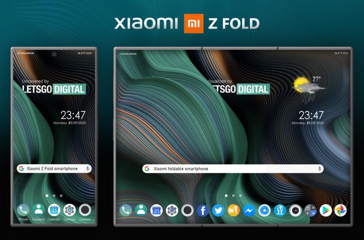 По стопам Galaxy Z Fold: Xiaomi создаёт гигантский складной смартфон