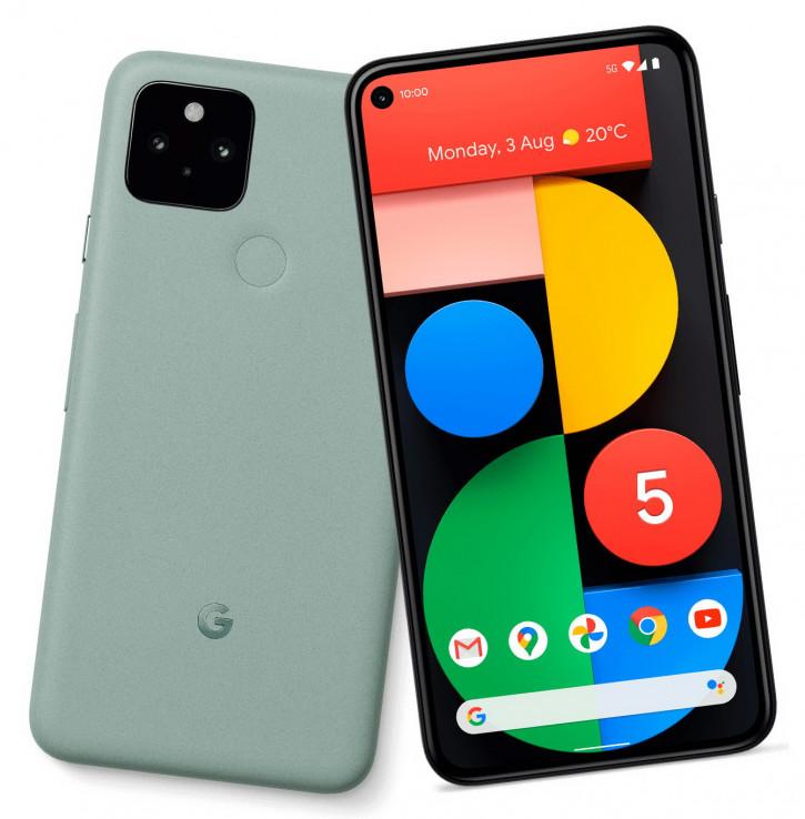Зеленый Google Pixel 5 впервые на пресс-фото вместе с Pixel 4a 5G