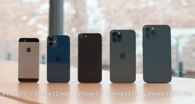 Размер iPhone 12 Mini сравнили с iPhone 4S и iPhone 5S