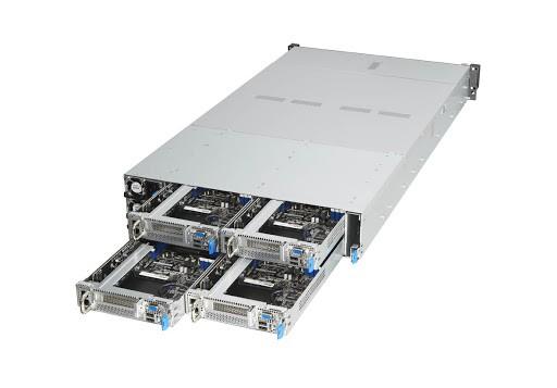 ASUS представляет первый в мире сервер формата 2U6N на базе платформы EPYC