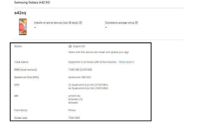 Google дала ответ на главный вопрос по Samsung Galaxy A42 5G