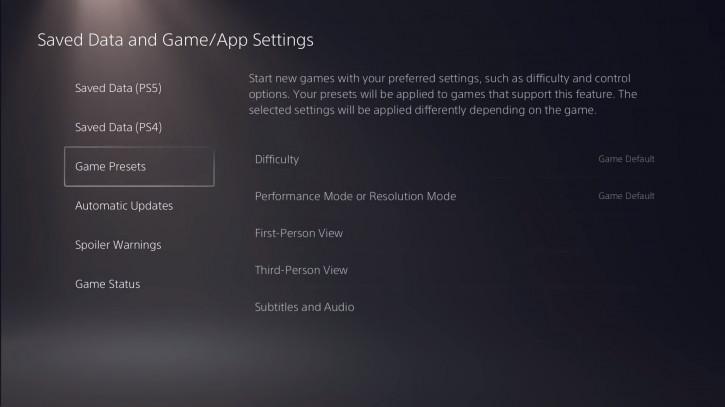 PlayStation 5 получит инструменты для предпочтительной настройки игр