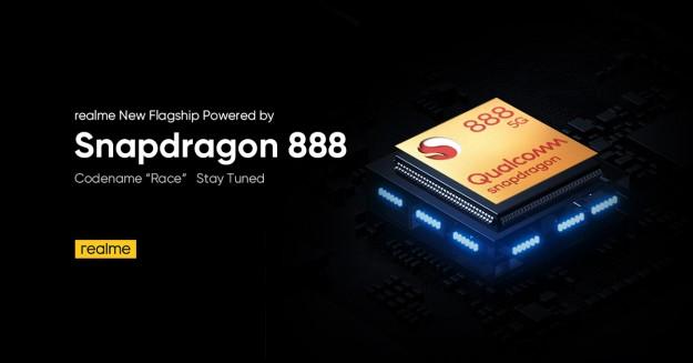 Snapdragon 888 в новых продуктах realme